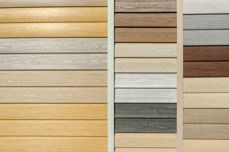 wood-look siding samples